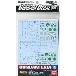 Gundam Decal 106 - RG 1/144 Gundam Exia