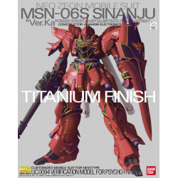 MG MSN-06S Sinanju ver. ka (Titanium Finish)