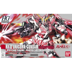 HG UC RX-0 Unicorn Gundam (Destroy Mode) Titanium Finish Ver (100)