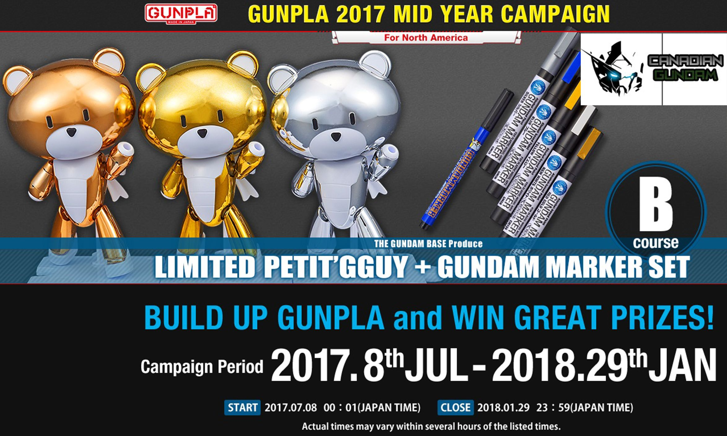 Canadian Gundam - GUNPLA 2017 MID YEAR CAMPAIGN!