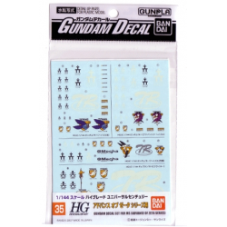 Gundam Decal 35 - Advance of Zeta Series