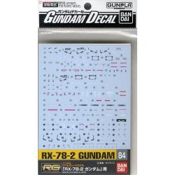 Gundam Decal 84 - RG RX-78-2 Gundam
