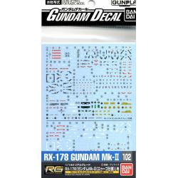 Gundam Decal 102 - RG Gundam Mk-II