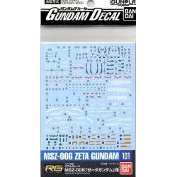 Gundam Decal 101 - RG Zeta Gundam