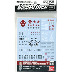 Gundam Decal 103 - Mobile Suit Gundam Iron-Blooded Orphans 1