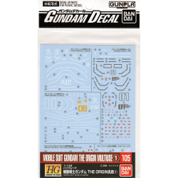 Gundam Decal 105 - Mobile Suit Gundam The Origin