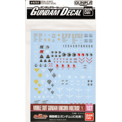 Gundam Decal 107 - Mobile Suit Gundam UC 1