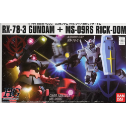 HG UC RX-78-3 Gundam + MS-09RS Rick Dom Chars Custom Set