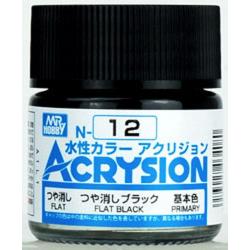Acrysion N12 - Flat Black (Flat/Primary)