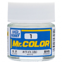 Mr. Color 1 - White (Gloss/Primary)