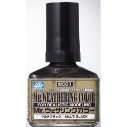 Mr. Weathering Color - Multi Black (WC01)