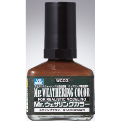 Mr. Weathering Color - Stain Brown (WC03)