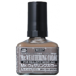 Mr. Weathering Color - Grayish Brown (WC07)