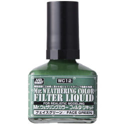 Mr. Weathering Color - Filter Liquid Green (WC12)