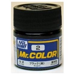 Mr. Color 2 - Black (Gloss/Primary) (C2)