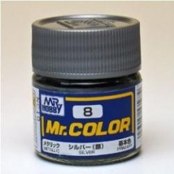Mr. Color 8 - Silver (Metallic/Primary) (C8)