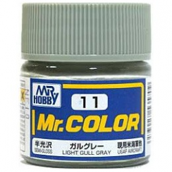 Mr. Color 11 - Light Gull Gray (Semi-Gloss/Aircraft) (C11)