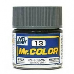 Mr. Color 13 - Neutral Gray (Semi-Gloss/Aircraft) (C13)