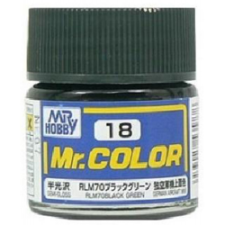 Mr. Color 18 - RLM70 Black Green (Semi-Gloss/Aircraft) (C18)
