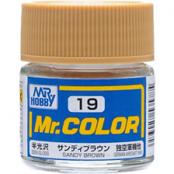 Mr. Color 19 - Sandy Brown (Semi-Gloss/Aircraft) (C19)