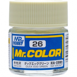 Mr. Color 26 - Duck Egg Green (Semi-Gloss/Aircraft) (C26)