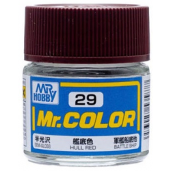 Mr. Color 29 - Hull Red (Semi-Gloss/Ship) (C29)