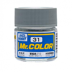 Mr. Color 31 - Dark Gray (1) (Semi-Gloss/Ship) (C31)