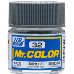 Mr. Color 32 - Dark Gray (2) (Semi-Gloss/Ship) (C32)