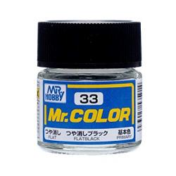 Mr. Color 33 - Flat Black (Flat/Primary) (C33)