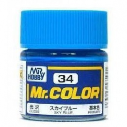 Mr. Color 34 - Sky Blue (Gloss/Primary) (C34)