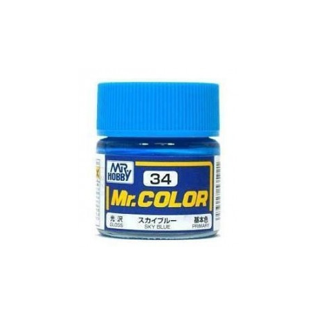 Mr. Color 34 - Sky Blue (Gloss/Primary) (C34)