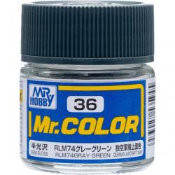 Mr. Color 36 - RLM74 Gray Green (Semi-Gloss/Aircraft) (C36)