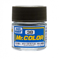 Mr. Color 38 - Olive Drab 2 (Flat/Tank) (C38)