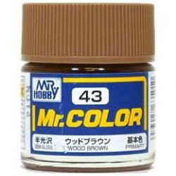Mr. Color 43 - Wood Brown (Semi-Gloss/Primary) (C43)