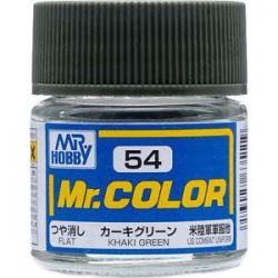 Mr. Color 54 - Khaki Green (Flat/Tank) (C54)