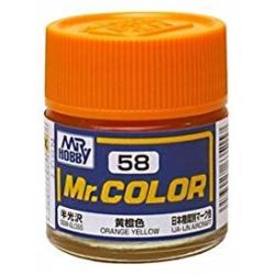 Mr. Color 58 - Orange Yellow (Semi-Gloss/Aircraft) (C58)