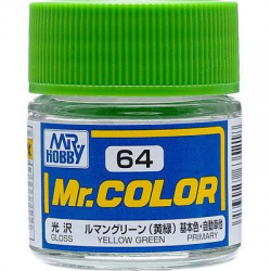 Mr. Color 64 - Yellow Green (Gloss/Primary Car) (C64)