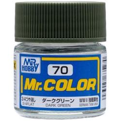 Mr. Color 70 - Dark Green (Flat/Tank) (C70)