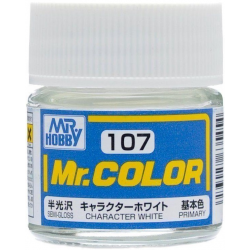 Mr. Color 107 - Character White (Semi-Gloss/Primary) (C107)