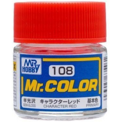 Mr. Color 108 - Character Red (Semi-Gloss/Primary) (C108)