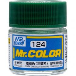 Mr. Color 124 - Dark Green (Mitsubishi) (Semi-Gloss/Aircraft) (C124)