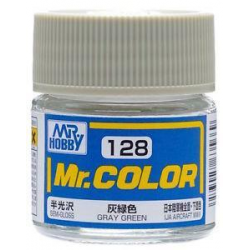 Mr. Color 128 - Gray Green (Semi-Gloss/Aircraft) (C128)