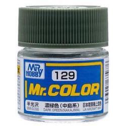 Mr. Color 129 - Dark Green (Nakajima) (Semi-Gloss/Aircraft) (C129)
