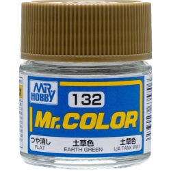 Mr. Color 132 - Earth Green (Flat/Tank) (C132)