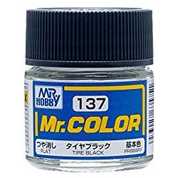 Mr. Color 137 - Tire Black (Flat/Aircraft Car) (C137)