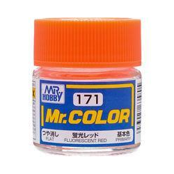 Mr. Color 171 - Fluorescent Red (Gloss/Primary) (C171)