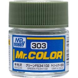 Mr. Color 303 - Green FS34102 (Semi-Gloss/Aircraft) (C303)