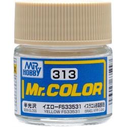 Mr. Color 313 - Yellow FS33531 (Semi-Gloss/Aircraft) (C313)