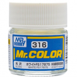 Mr. Color 316 White FS17875 (Gloss/Aircraft) (C316)