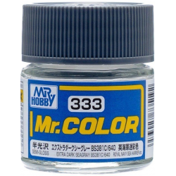 Mr. Color 333 - Extra Dark Seagray BS381C 640 (Semi-Gloss/Aircraft) (C333)